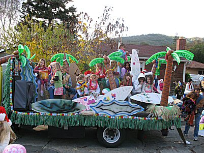 Tioga Princesses- Holiday Parade, 2007